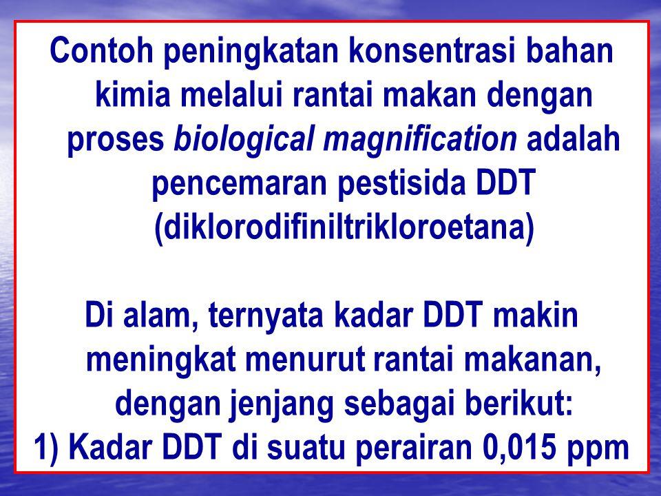 1) Kadar DDT di suatu perairan 0,015 ppm