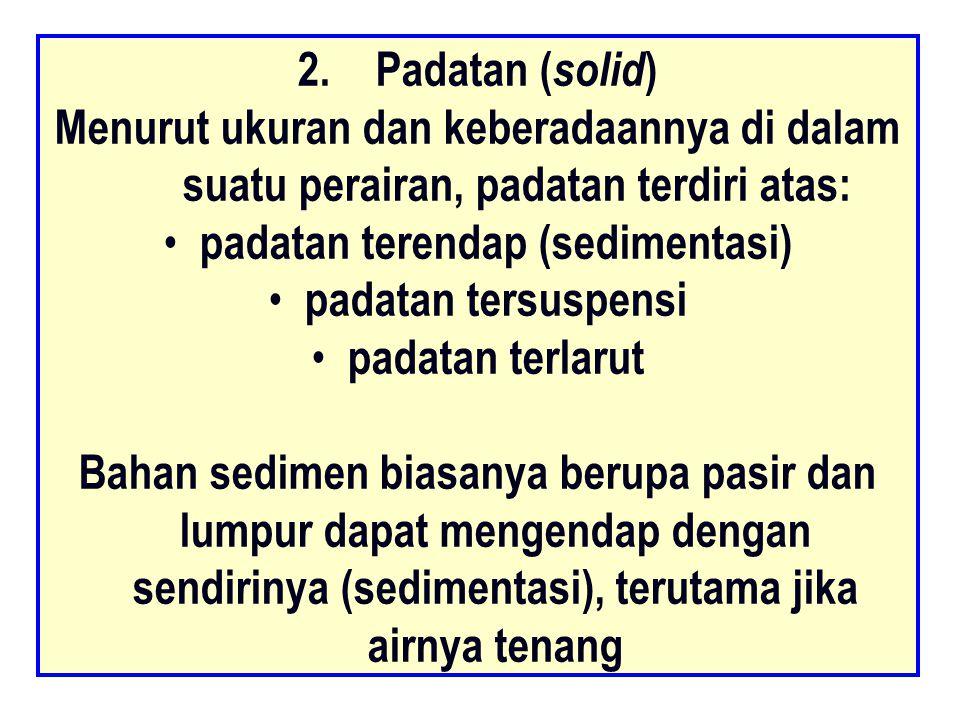 padatan terendap (sedimentasi)