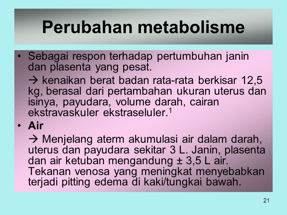 Perubahan metabolisme