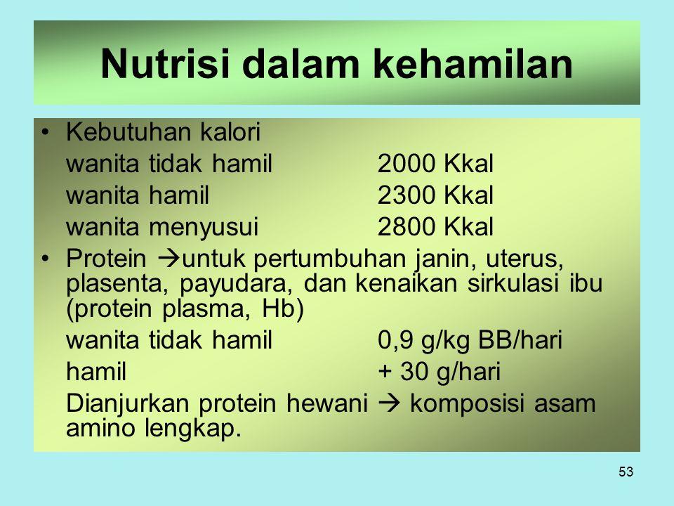 Nutrisi dalam kehamilan