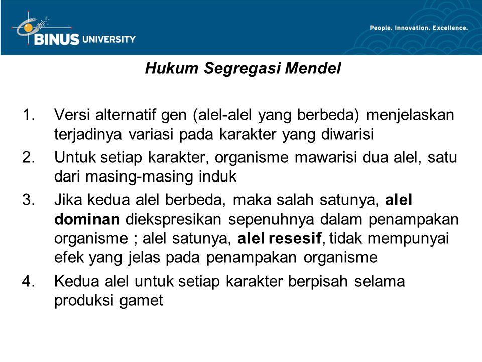 Hukum Segregasi Mendel