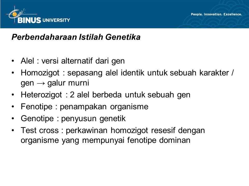 Perbendaharaan Istilah Genetika