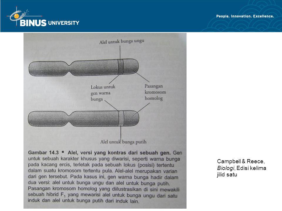 Campbell & Reece, Biologi, Edisi kelima jilid satu