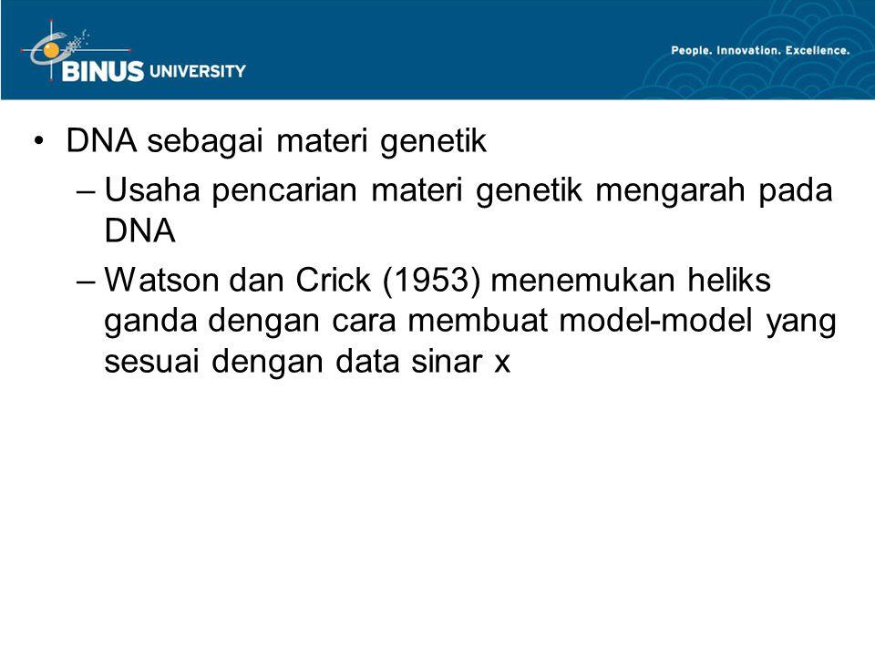 DNA sebagai materi genetik