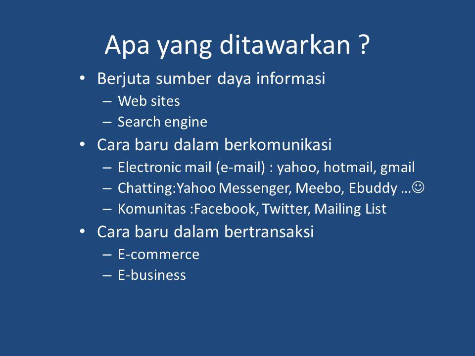 Apa yang ditawarkan Berjuta sumber daya informasi