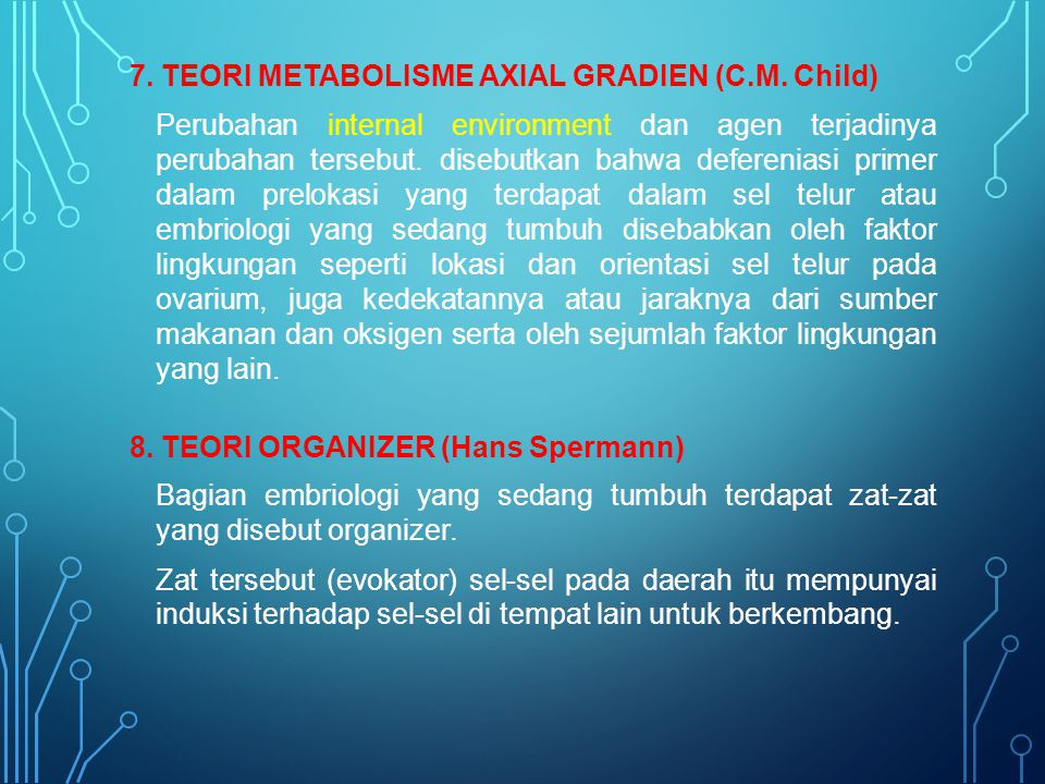 7. TEORI METABOLISME AXIAL GRADIEN (C. M