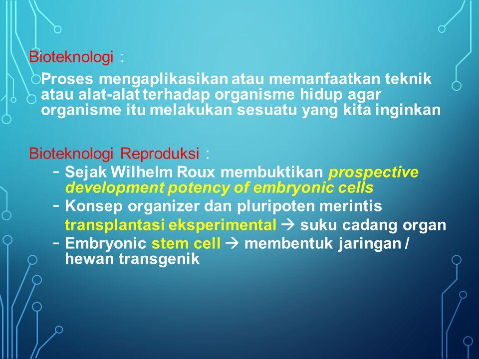 Bioteknologi :
