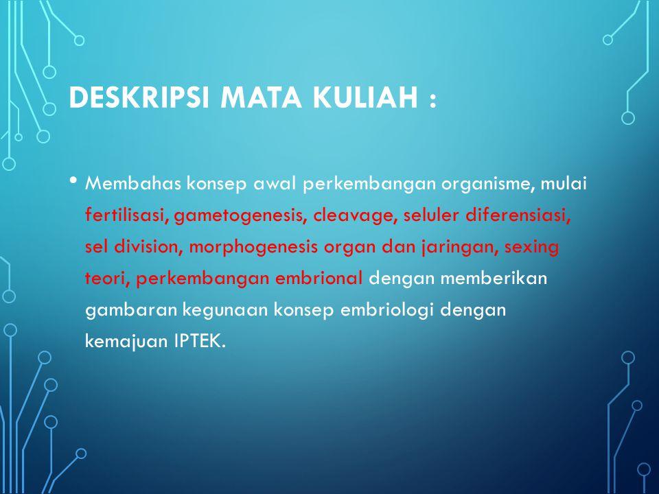 DESKRIPSI MATA KULIAH :