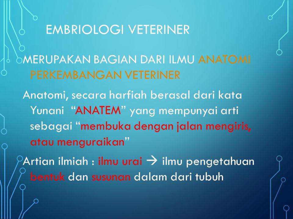 EMBRIOLOGI VETERINER