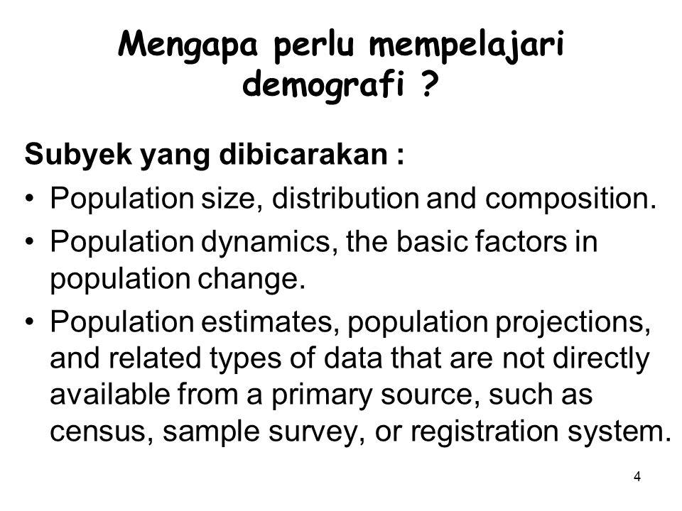 Mengapa perlu mempelajari demografi