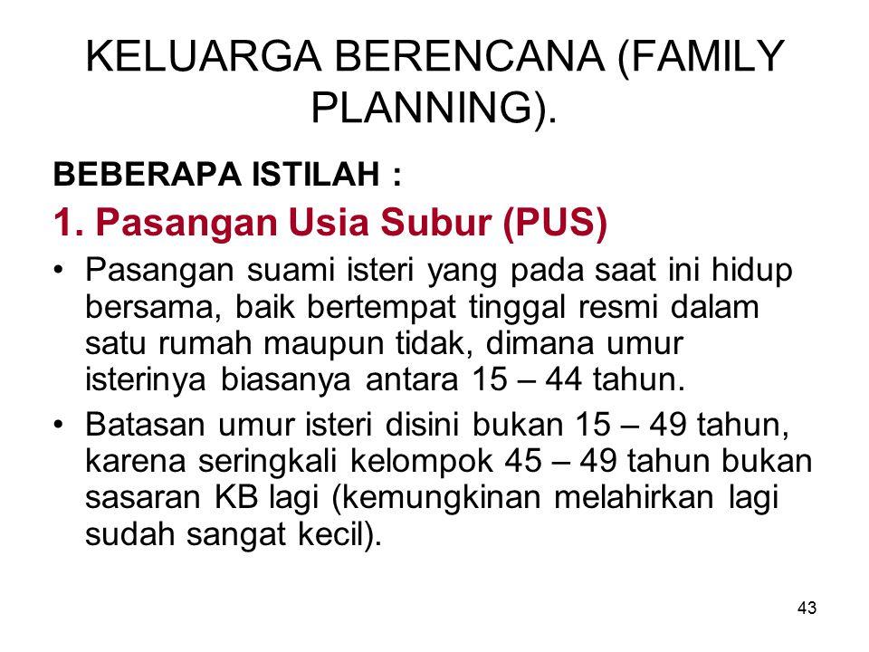 KELUARGA BERENCANA (FAMILY PLANNING).
