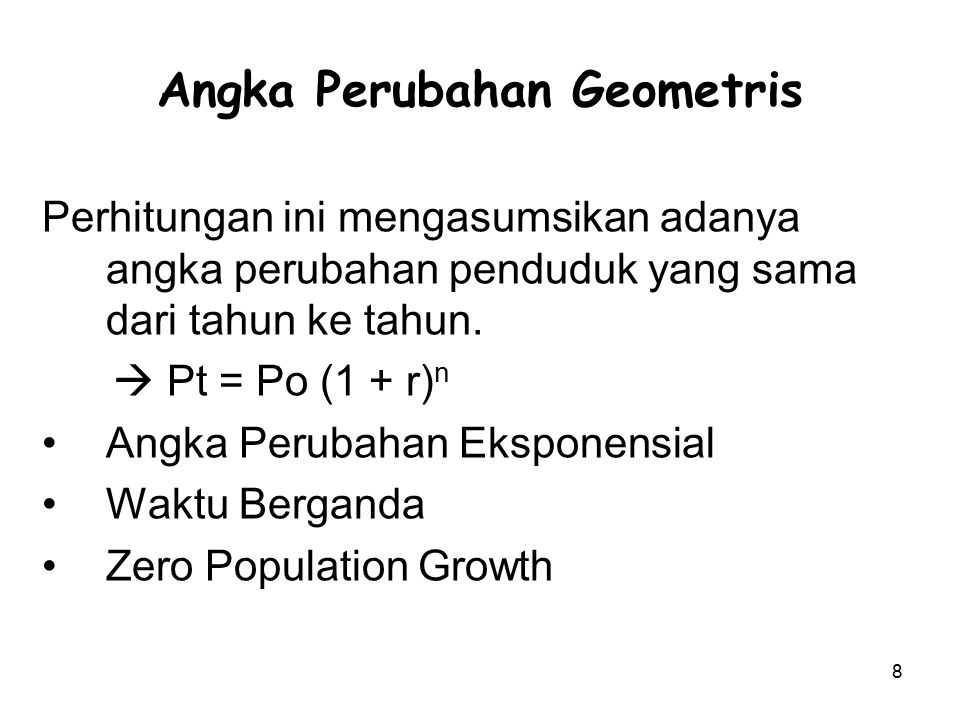 Angka Perubahan Geometris