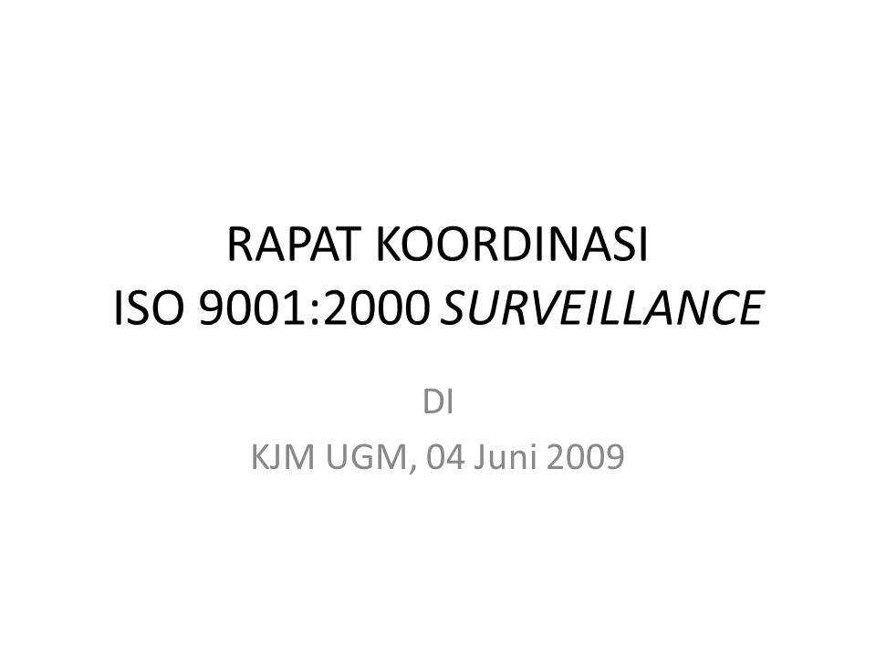 RAPAT KOORDINASI ISO 9001:2000 SURVEILLANCE