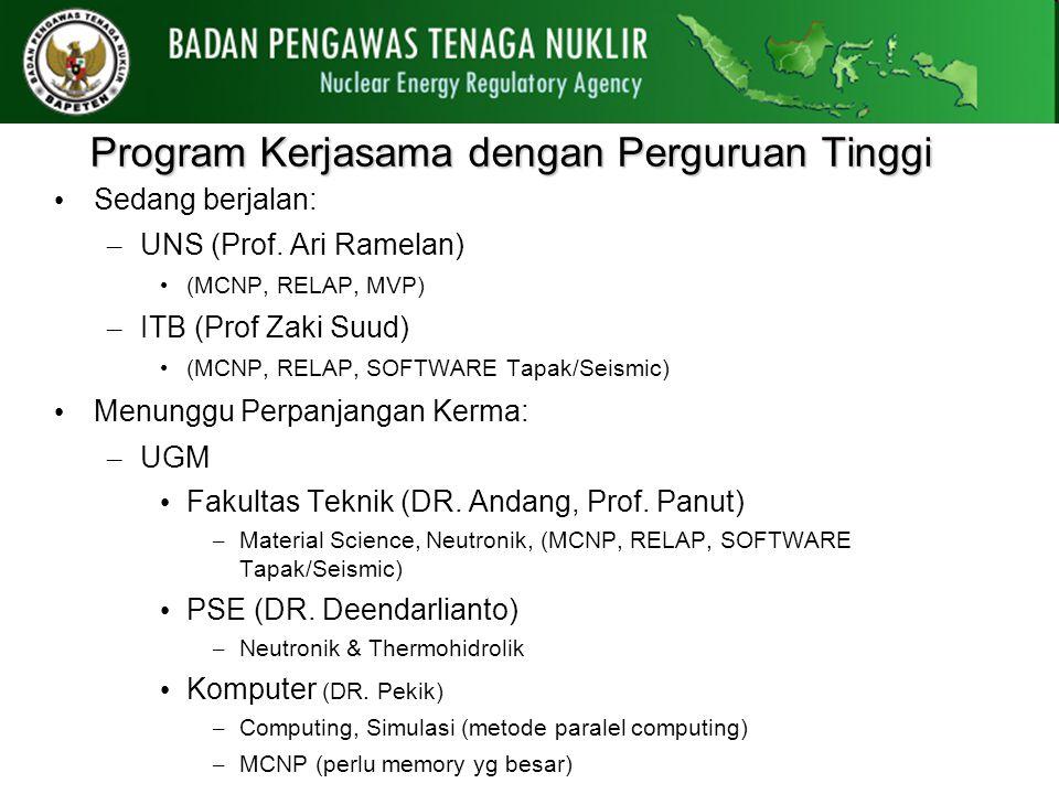 Program Kerjasama dengan Perguruan Tinggi