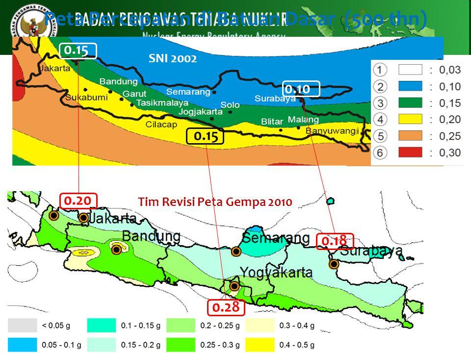 Peta Percepatan di Batuan Dasar (500 thn)