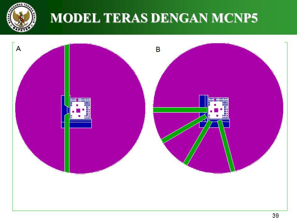 MODEL TERAS DENGAN MCNP5