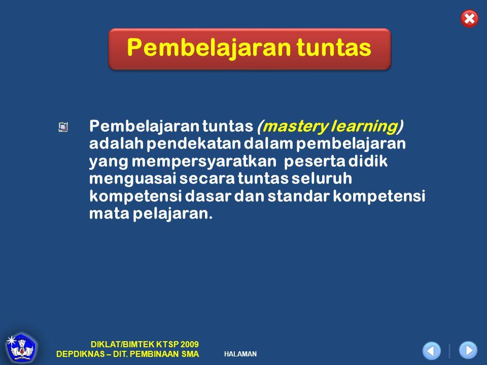 Pembelajaran tuntas