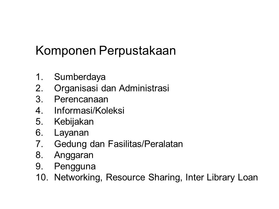 Komponen Perpustakaan