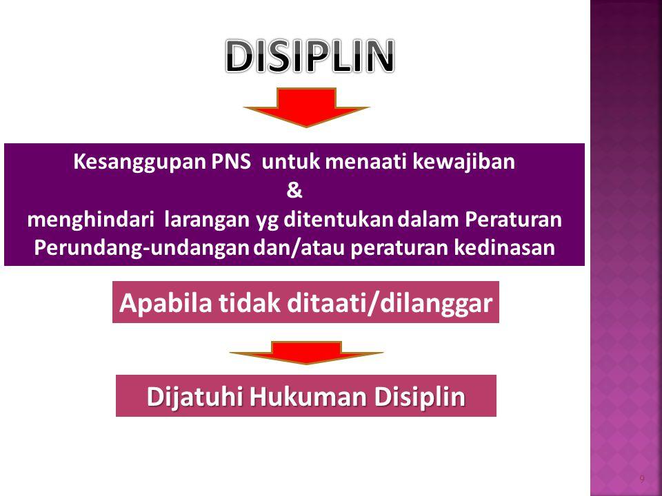 Kesanggupan PNS untuk menaati kewajiban Dijatuhi Hukuman Disiplin
