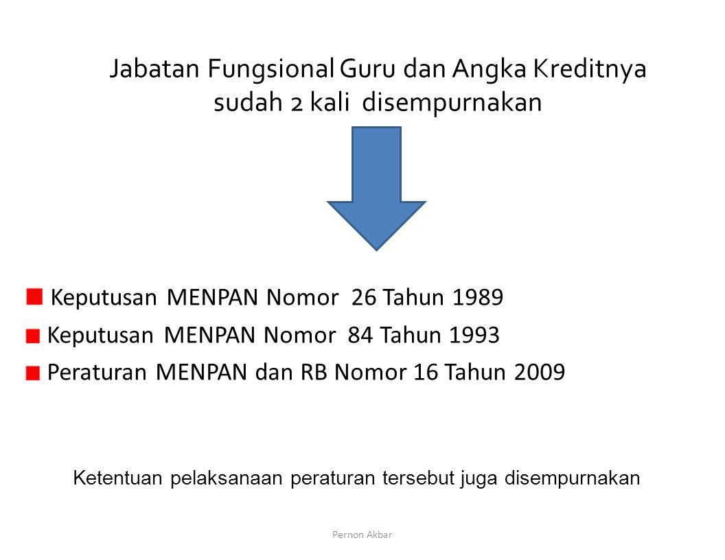 Keputusan MENPAN Nomor 26 Tahun 1989