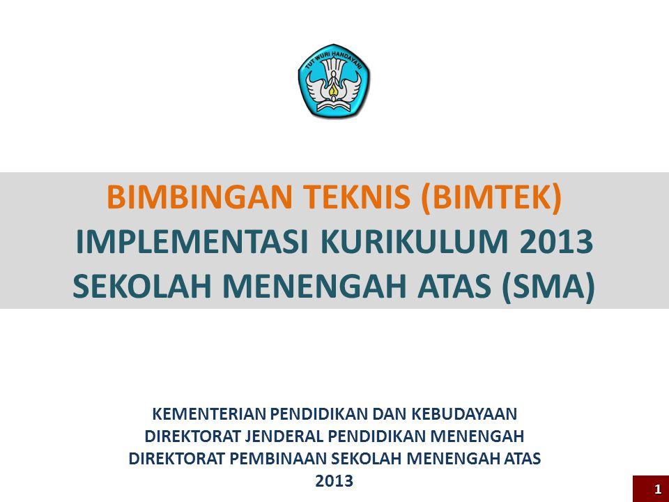 BIMBINGAN TEKNIS (BIMTEK) IMPLEMENTASI KURIKULUM 2013