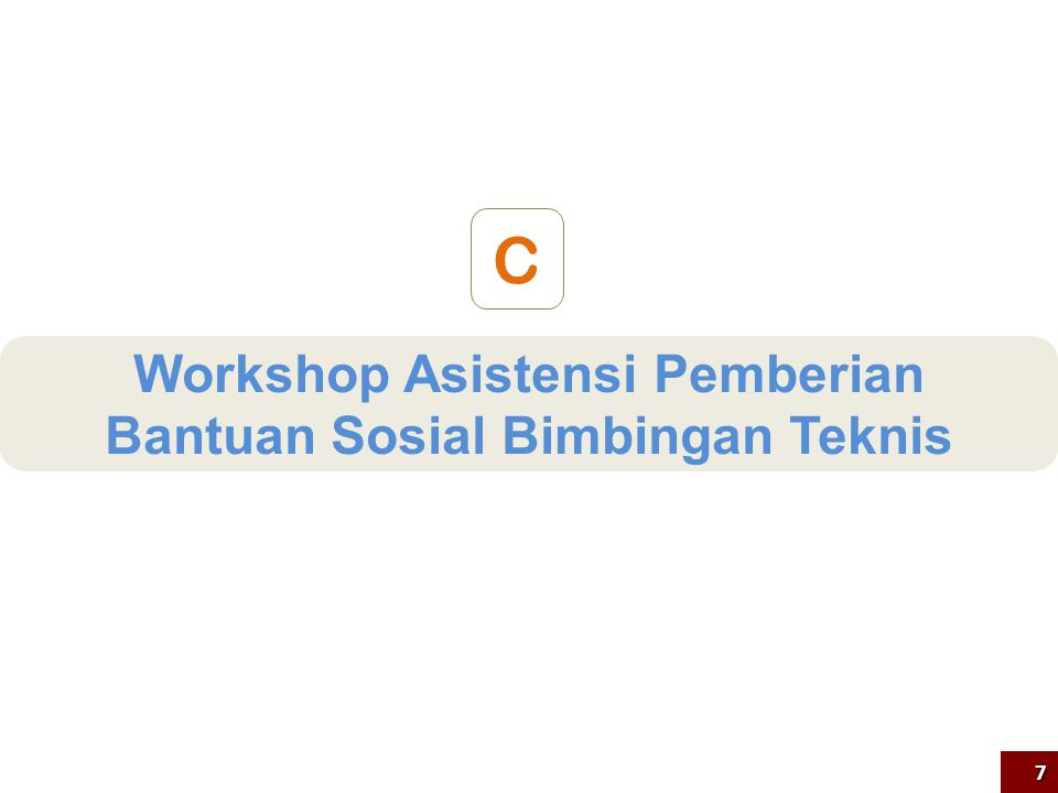 Workshop Asistensi Pemberian Bantuan Sosial Bimbingan Teknis