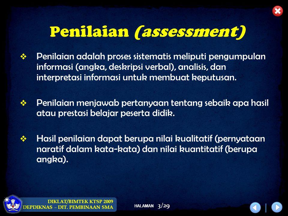 Penilaian (assessment)