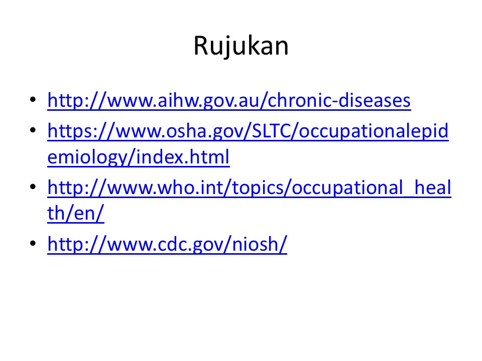 Rujukan http://www.aihw.gov.au/chronic-diseases