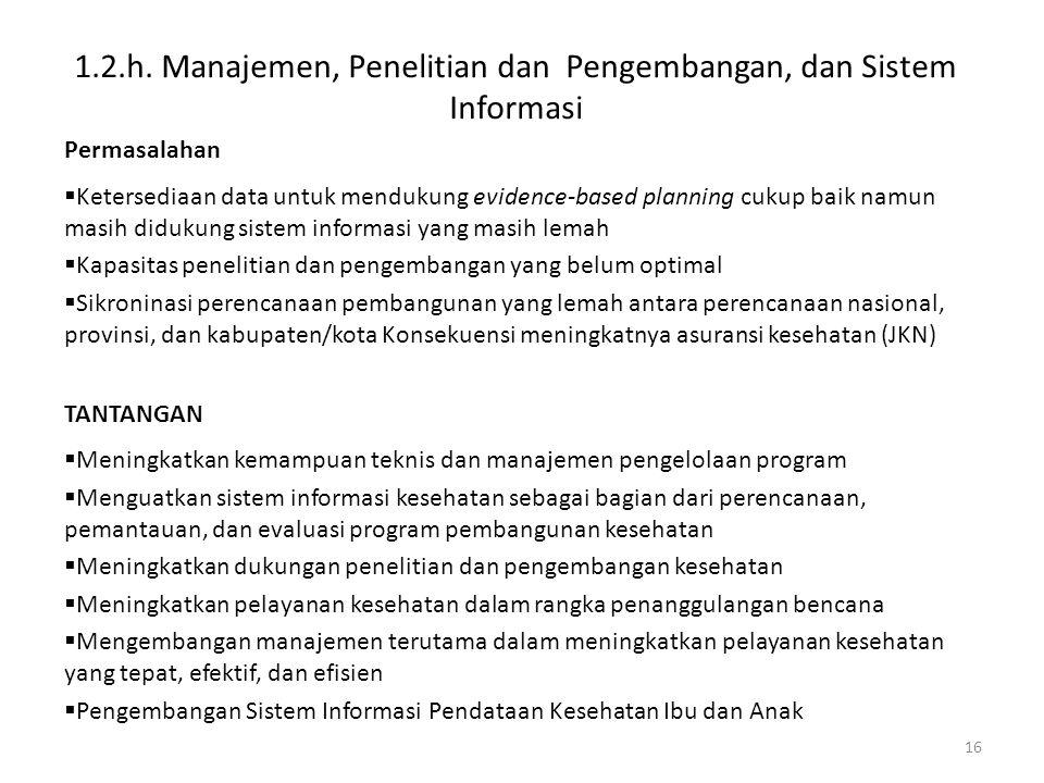 1.2.h. Manajemen, Penelitian dan Pengembangan, dan Sistem Informasi