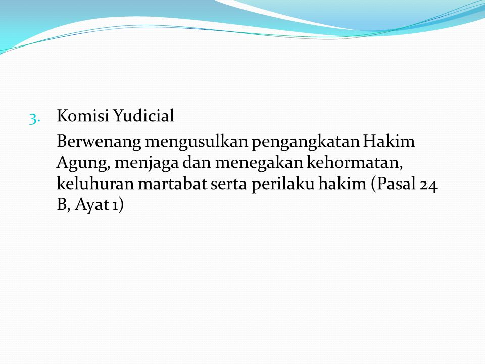 Komisi Yudicial