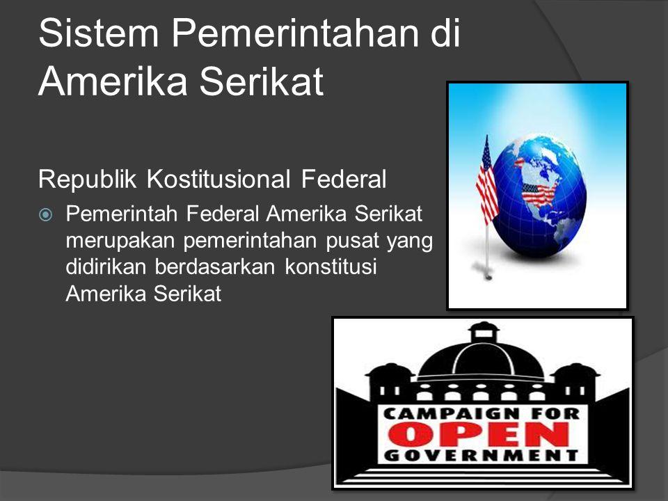 Sistem Pemerintahan di Amerika Serikat