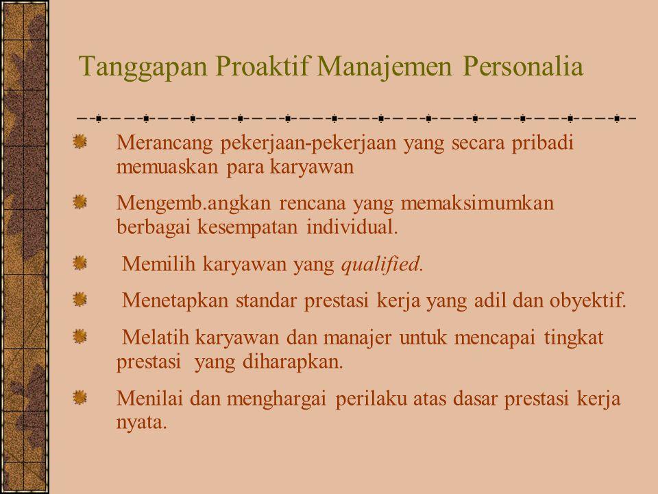 Tanggapan Proaktif Manajemen Personalia