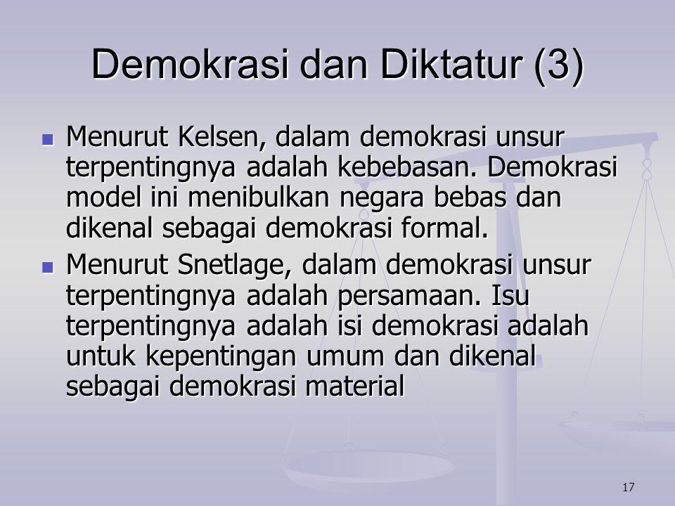 Demokrasi dan Diktatur (3)