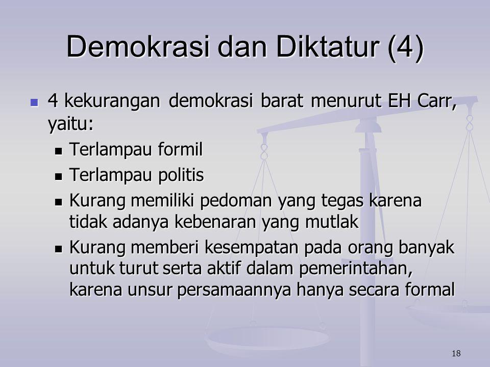 Demokrasi dan Diktatur (4)