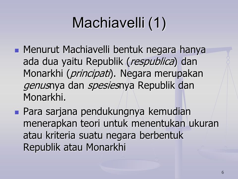 Machiavelli (1)