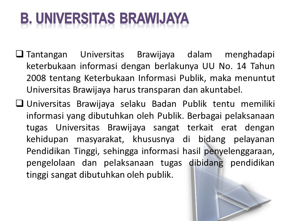 b. Universitas brawijaya