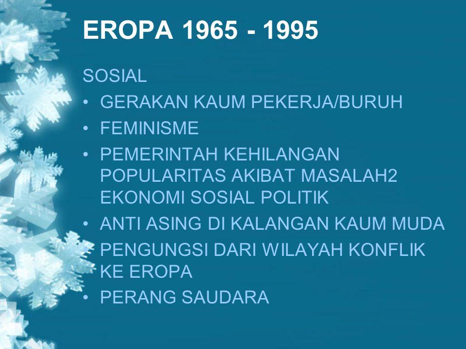 EROPA 1965 - 1995 SOSIAL GERAKAN KAUM PEKERJA/BURUH FEMINISME
