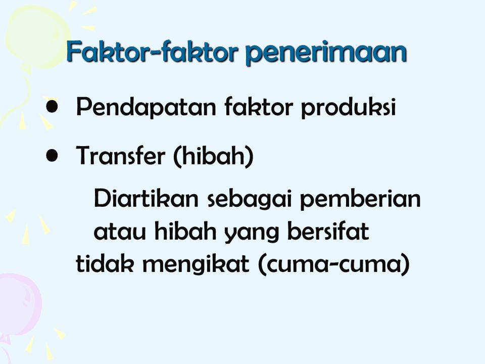 Faktor-faktor penerimaan
