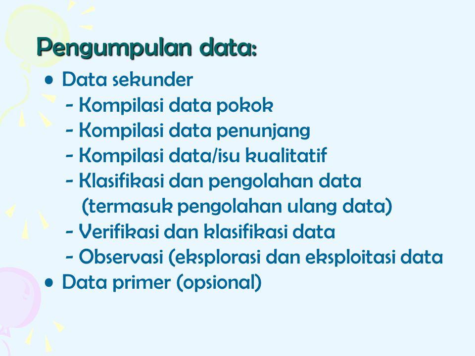 Pengumpulan data: Data sekunder - Kompilasi data pokok