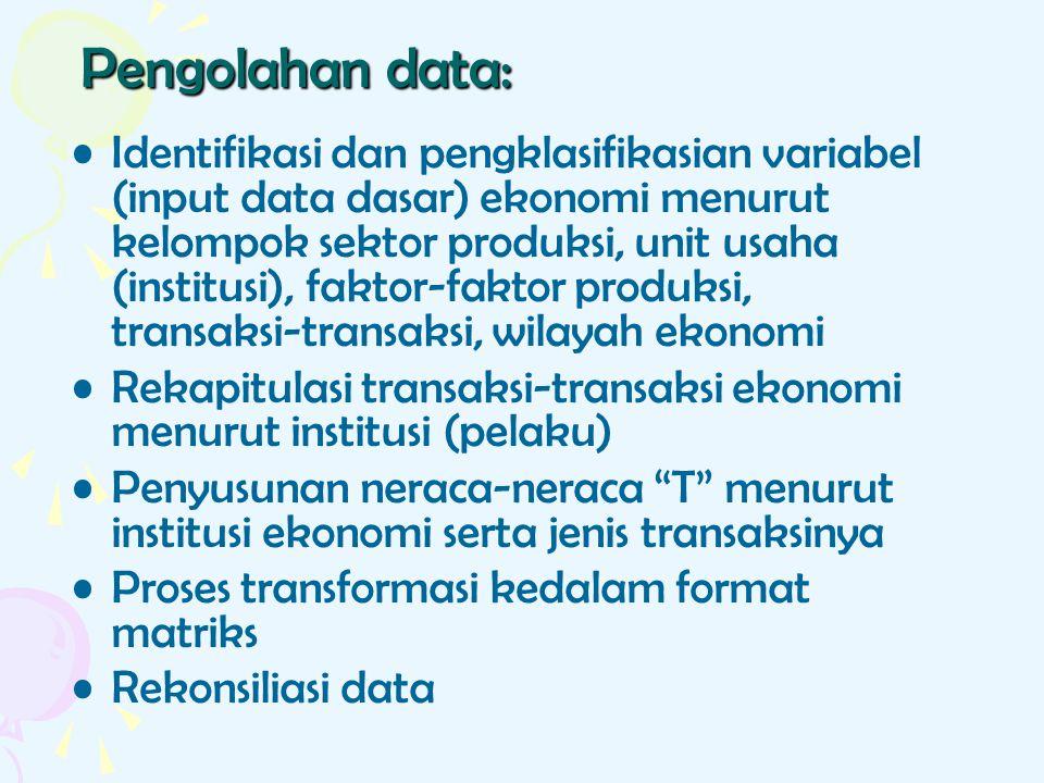 Pengolahan data: