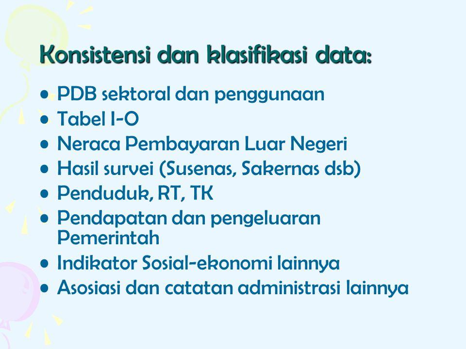 Konsistensi dan klasifikasi data: