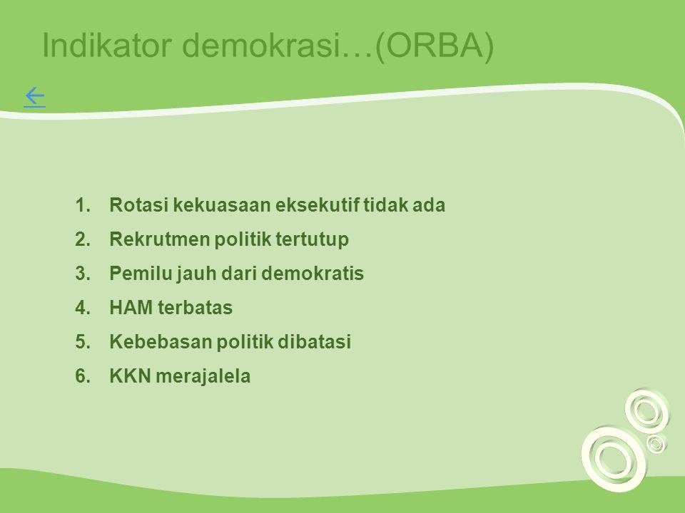 Indikator demokrasi…(ORBA)