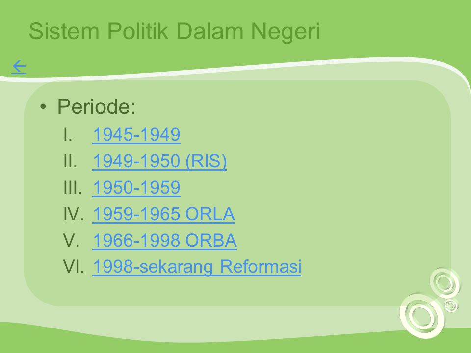Sistem Politik Dalam Negeri