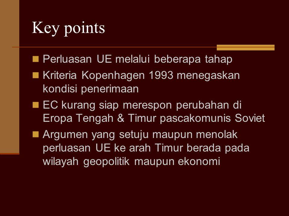 Key points Perluasan UE melalui beberapa tahap