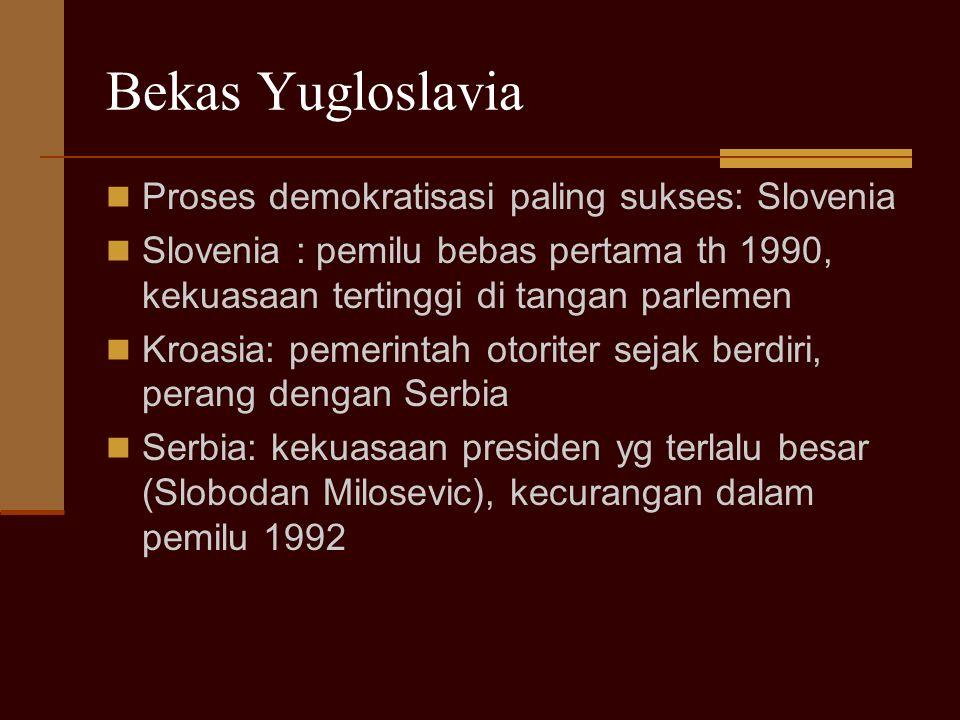 Bekas Yugloslavia Proses demokratisasi paling sukses: Slovenia