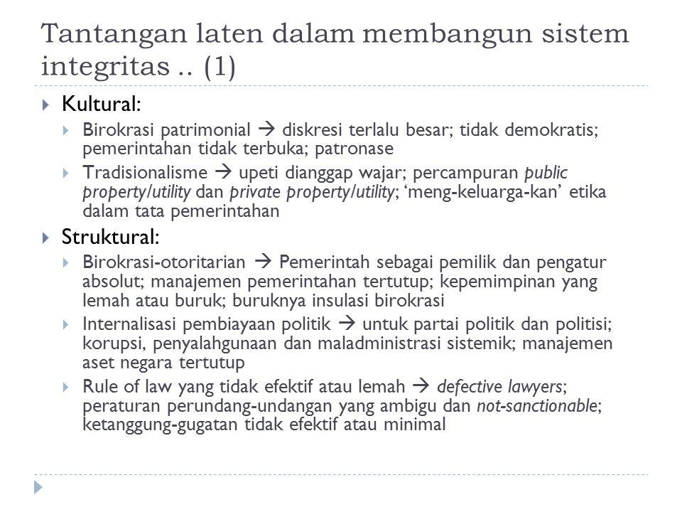 Tantangan laten dalam membangun sistem integritas .. (1)