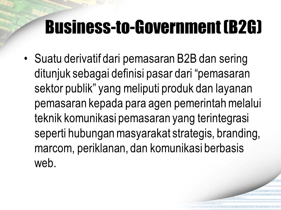 Business-to-Government (B2G)