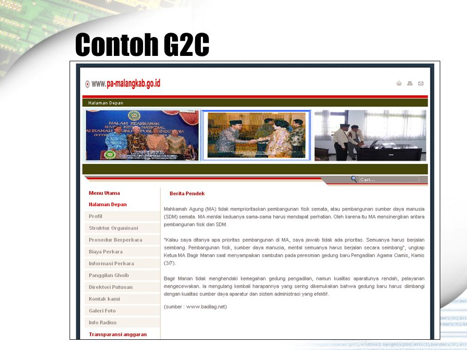 Contoh G2C