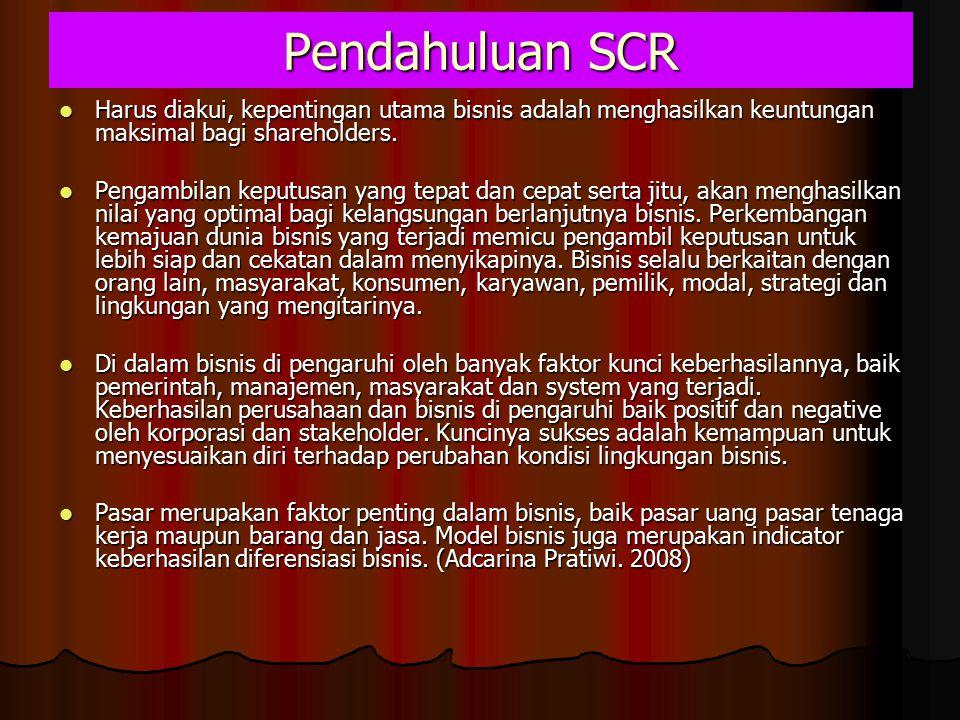 Pendahuluan SCR Harus diakui, kepentingan utama bisnis adalah menghasilkan keuntungan maksimal bagi shareholders.