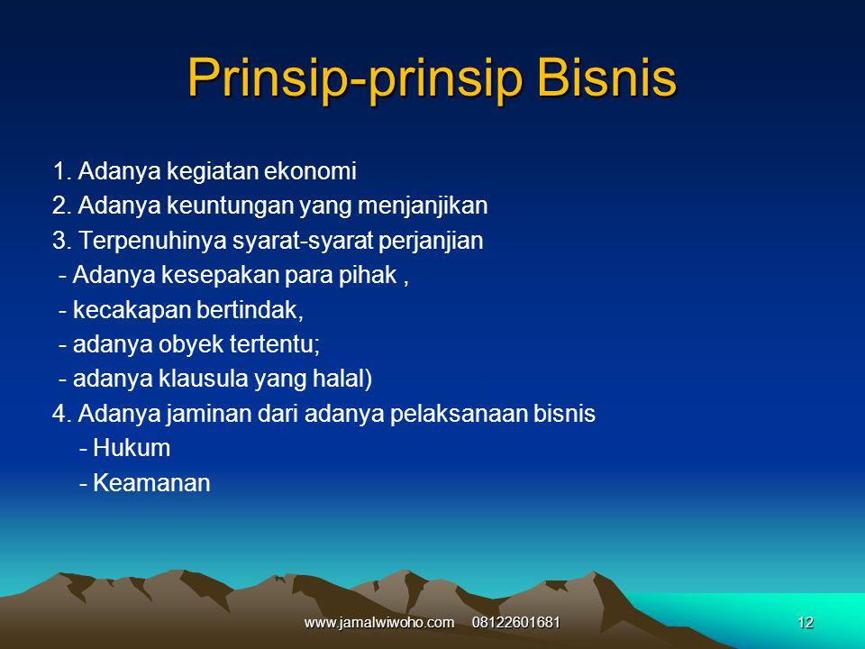 Prinsip-prinsip Bisnis